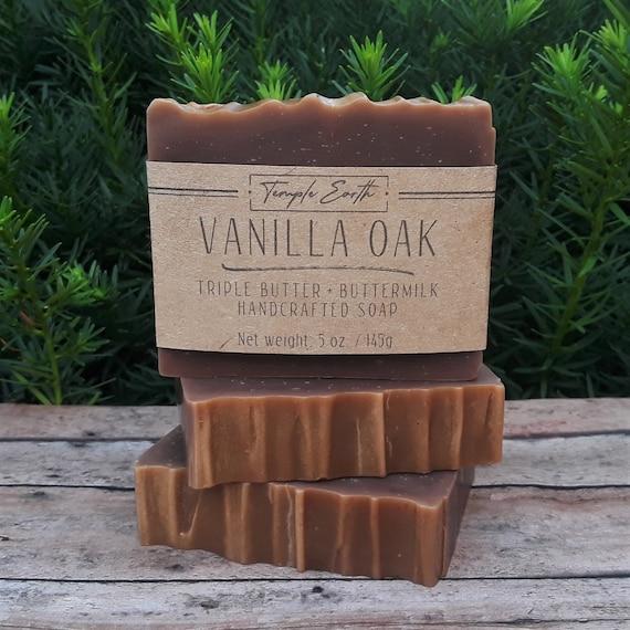 Vanilla Oak Handcrafted Soap (4.5 oz.) - Triple Butter + Buttermilk Soap