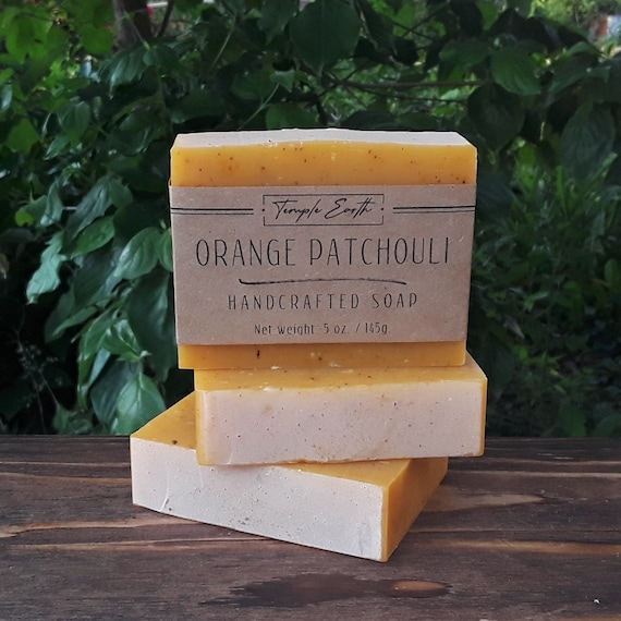 Orange Patchouli Handcrafted Soap - Natural & Vegan (4.5 oz. / 130g.)