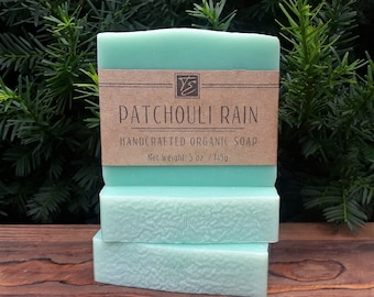 Patchouli Rain Soap with Cocoa Butter (5 oz.) - Handcrafted Organic Soap