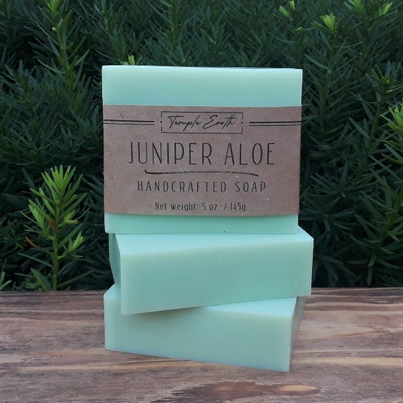 Juniper Aloe Handcrafted Soap (5 oz.)  Natural - Organic - Vegan
