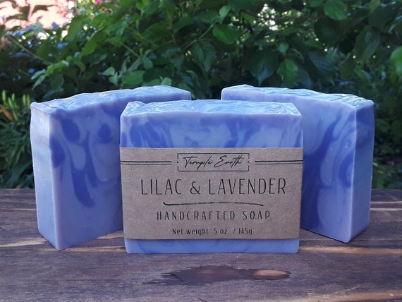 Lilac & Lavender Handcrafted Soap with Shea Butter: Natural - Organic - Vegan