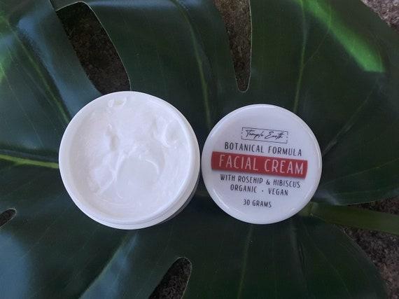 Hibiscus & Rosehip Face Moisturizing Cream (Botanical Formula) *ORGANIC AND VEGAN* Day and Night Cream