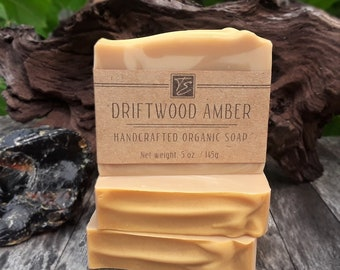 Driftwood Amber Soap with Cocoa Butter (5 oz.) - Handcrafted Organic Soap