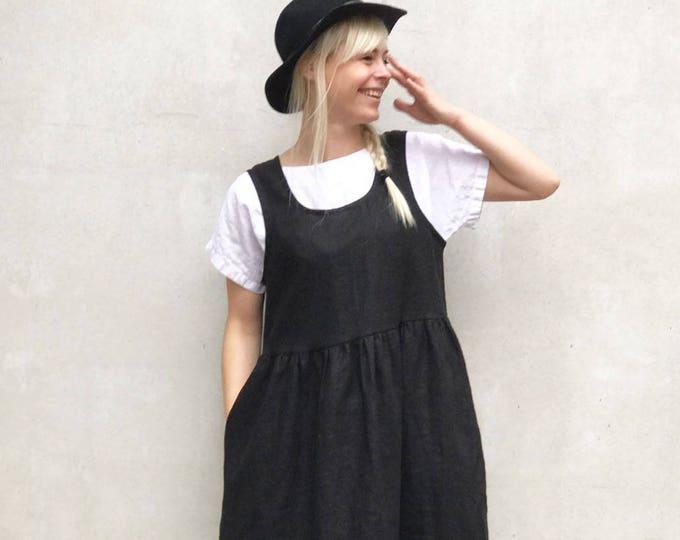 Linen Pinafore Dress