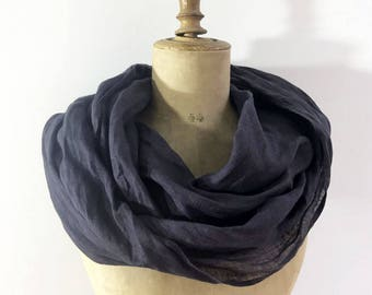 Infinity Scarf from Charcoal Grey Linen