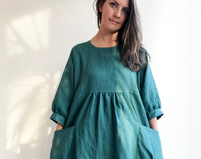 "Featured listing image: Loose Linen Tunic Dress ""Felisia"""