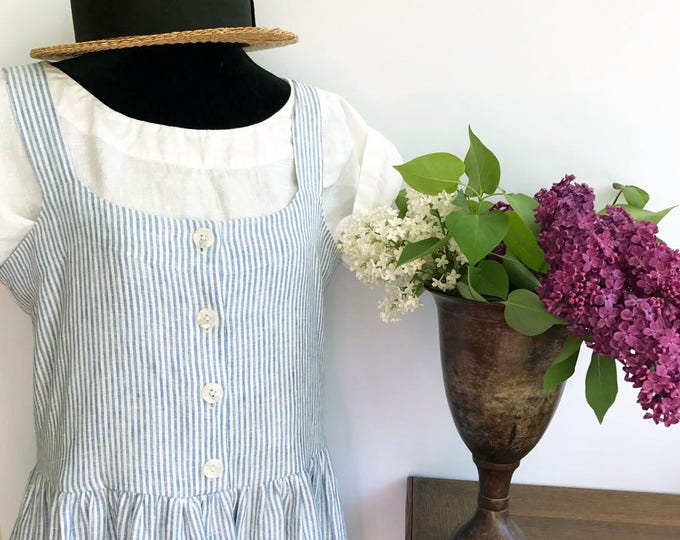 Sleeveless Linen Dress, Button Up Jumper Dress, Sleeveless Maxi Dress, Jumper Maxi Dress, Plus Size Sundress, Linen Dress Women, Jumper