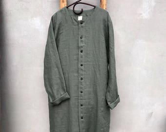 Button Up Linen Kaftan