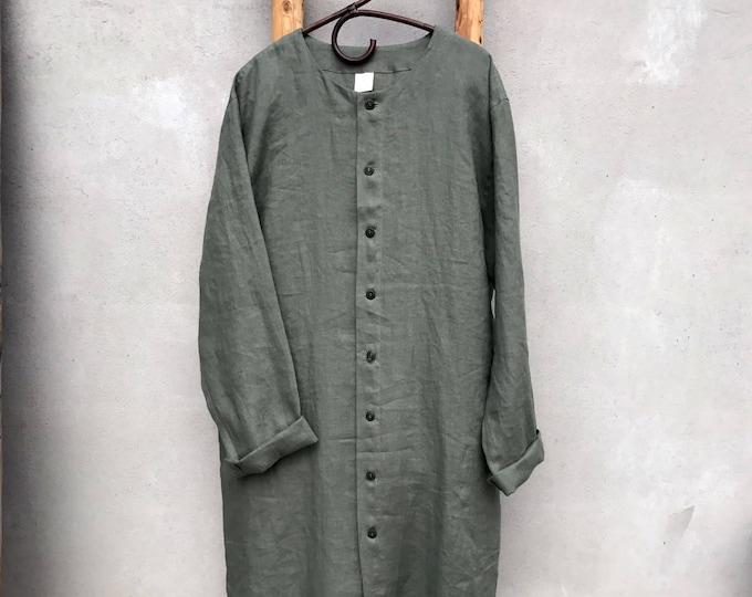 Button Up Linen Kaftan