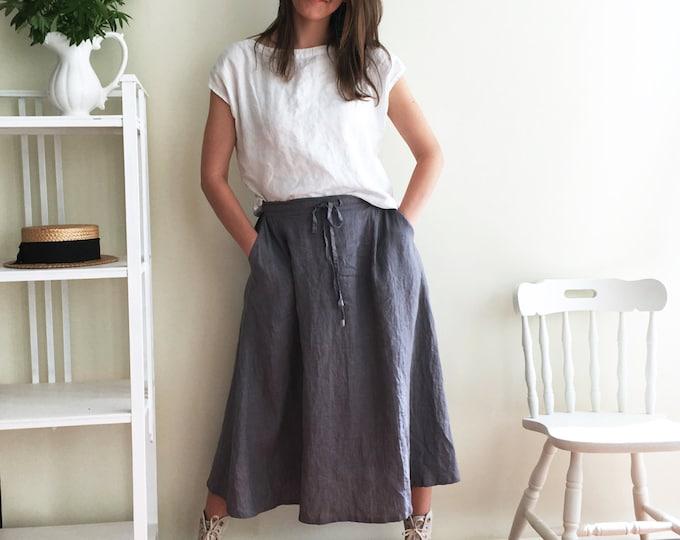 Long Linen Skirt, Boho Skirt, Grey Maxi Skirt, Long Skirt, Maxi Skirt Boho, Skirt with Pockets, Womens Skirts, Linen skirt, Custom Skirt
