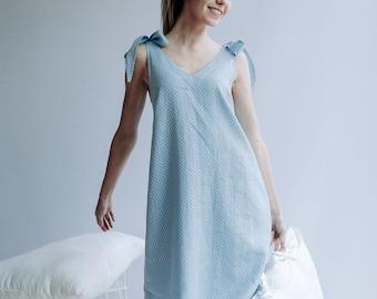 Nightgown for Women, Womens Nightgown, Linen sleepwear, Linen Pyjama, Night Dress, Pink Nightgown, Sleeveless linen dress Valentines gift