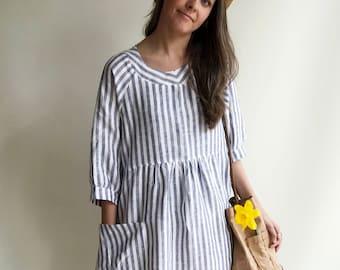 Felisia Linen Dress Ready To Ship: Size M-XXL