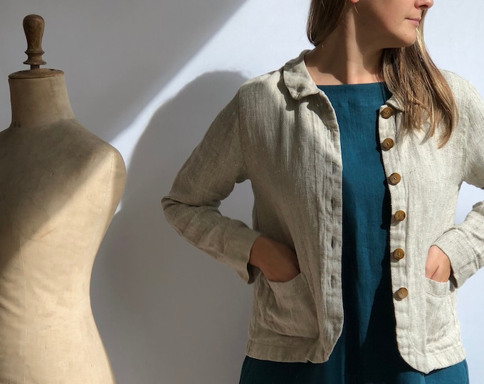Linen Jacket 'Georgia-Rustic' for Women