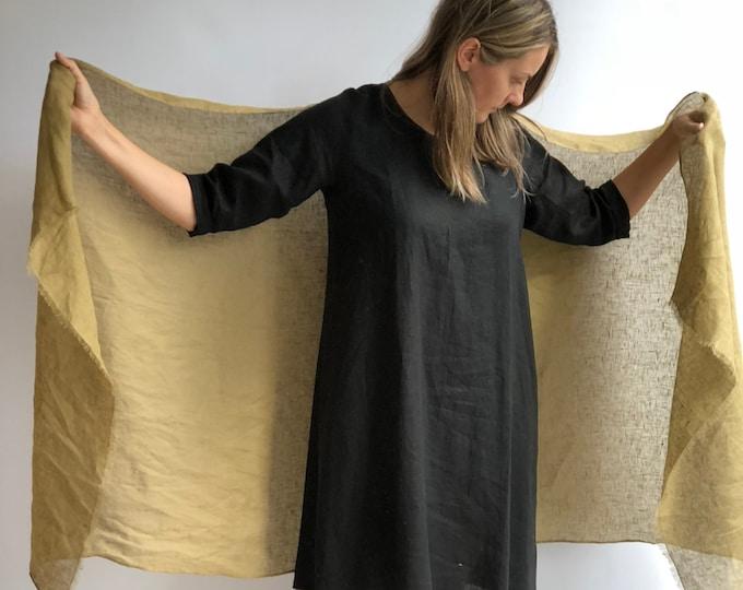 Large Linen Shawl, Linen Scarf Green, Khaki Green Linen Shawl, Womens Shawl, Linen Wraps Shawl, Christmas Gift, Oversized shawl Womens Linen