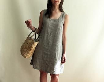 Natural Linen Jumper Dress