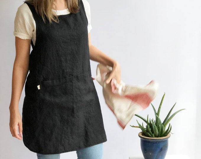 "Light Pinafore Apron Smock ""Lola"""