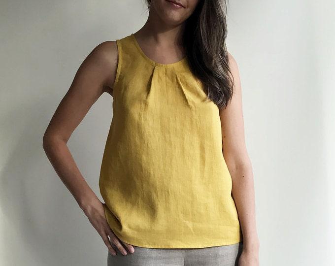 Sleeveless Linen Top, Womens Top, Linen Tee, Plus size shirt, Loose top, Loose Linen Shirt, Plus size top
