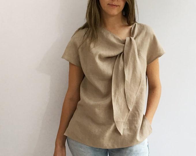 Light Linen Top, Elegant Womens Top, Linen blouse, Linen Shirt Women, Plus size top, Made To Measure Top, Plus size blouse, linen women