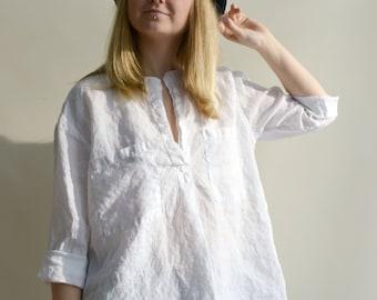 6d041c62c29 White Linen Shirt