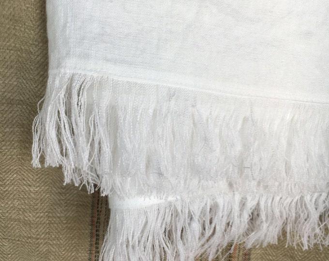 White Linen Throw, Light Blanket, Light Throw, Natural Blanket, Daybed blanket, Summer Blanket, European Linen