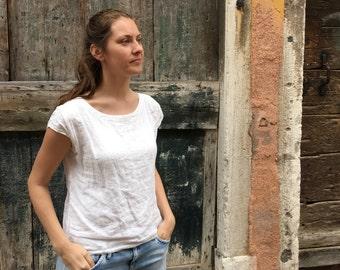 Linen Shirt Women, Linen T-Shirt, Linen Top, Shirt with Sleeves, Linen Tee, Plus size shirt, Linen Blouse, Loose Linen Shirt, Plus size top