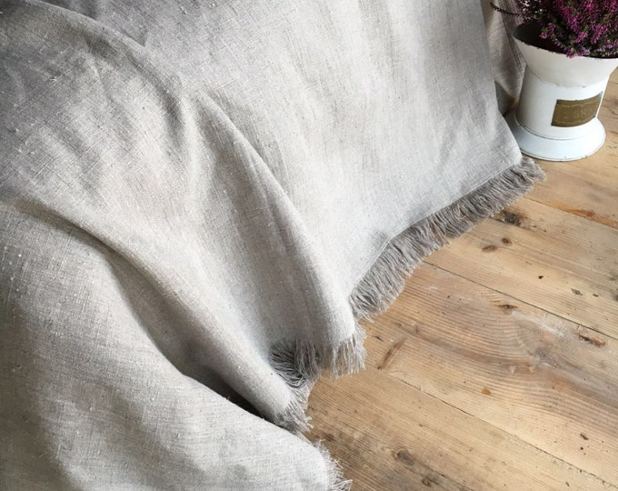 Natural linen cover, Textured Linen Throw, Light Blanket, Light Throw, Natural Blanket, Daybed blanket, Summer Blanket, European Linen