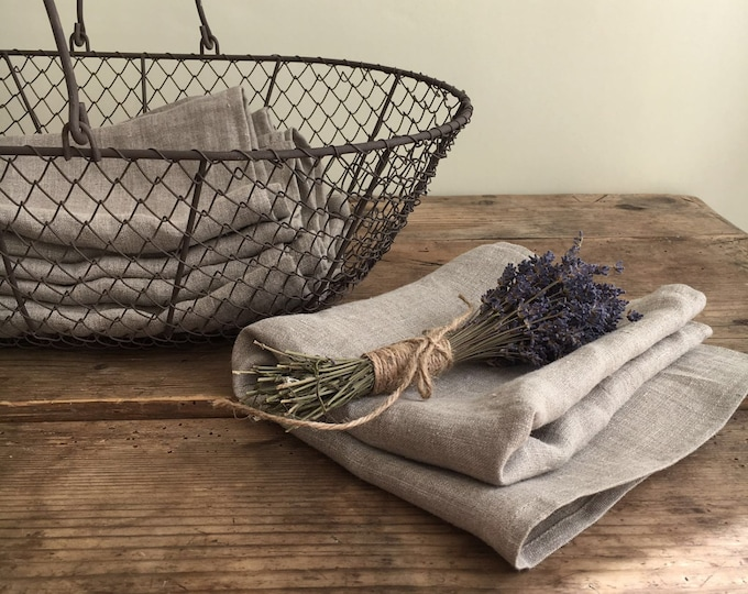 Set of four Linen Towels, Natural Towels, Guest towels, Kitchen towels,  Rustic towels, Durable towels, Country house towels, tea towels