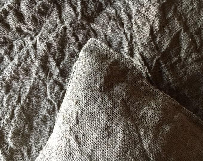 Rustic Linen Throw Blanket, Linen Bed Cover, Textured linen blanket, Grey Blanket Linen Coverlet, Daybed blanket Country Blanket bedspread