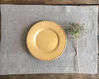 10 Linen Placemats Cloth Place Mats, Set of Placemats, Natural Placemats, Rustic Placemats, Country Placemats Table placemats grey placemats