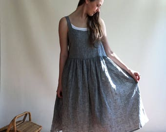 Grey Pinafore Dress Size XL