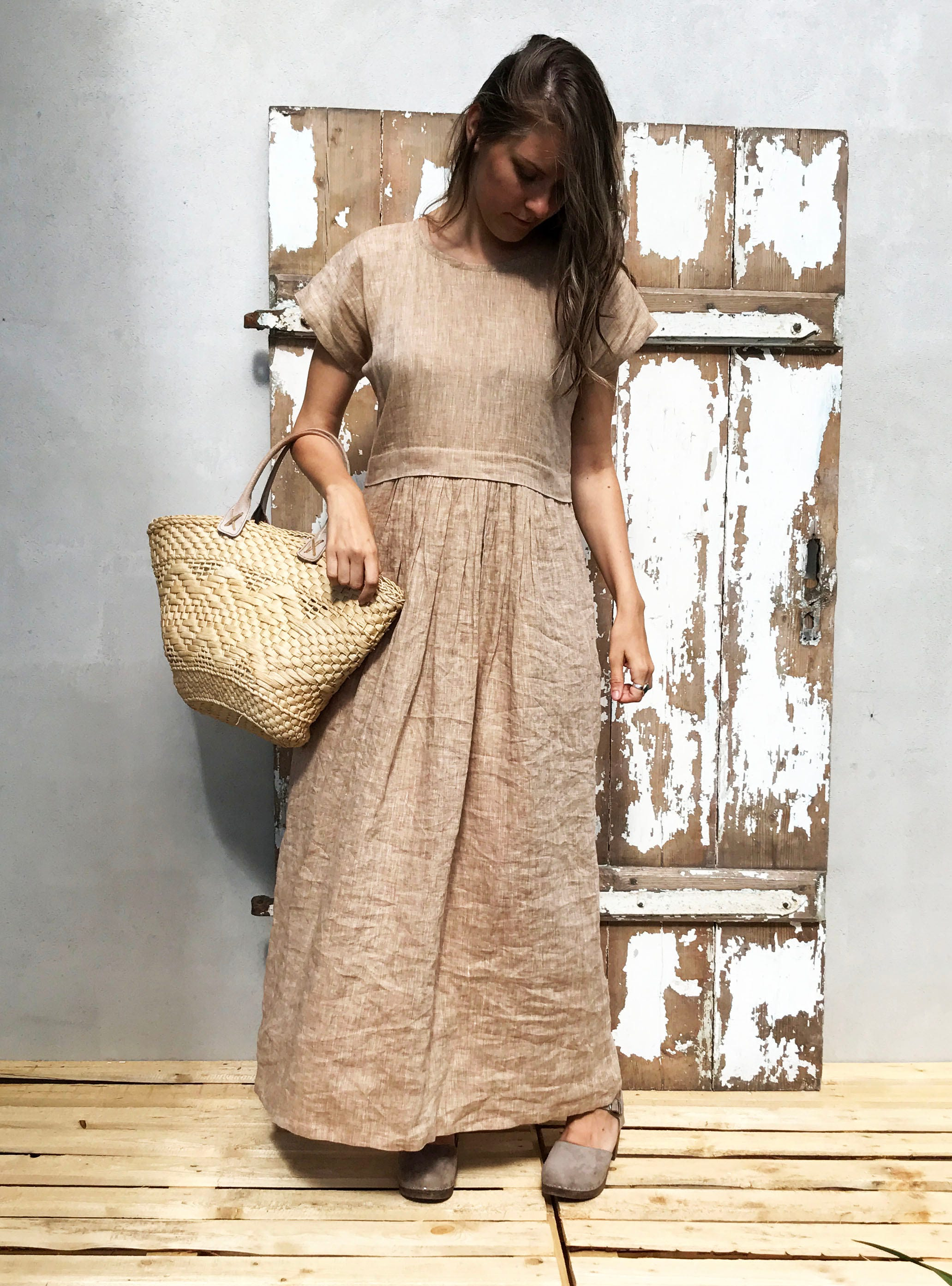 cfbeb529dc Linen Maxi Dress