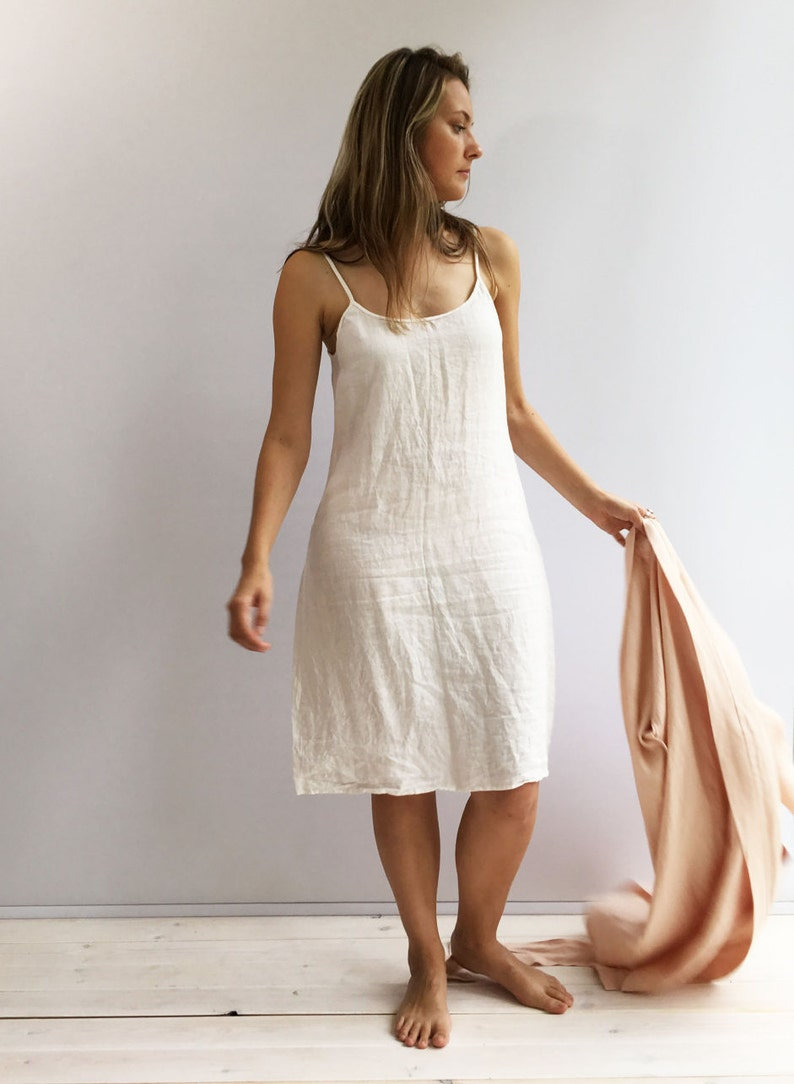 c8754994ead Slip Dress Linen Slip Dress Base Layer Underdress Night