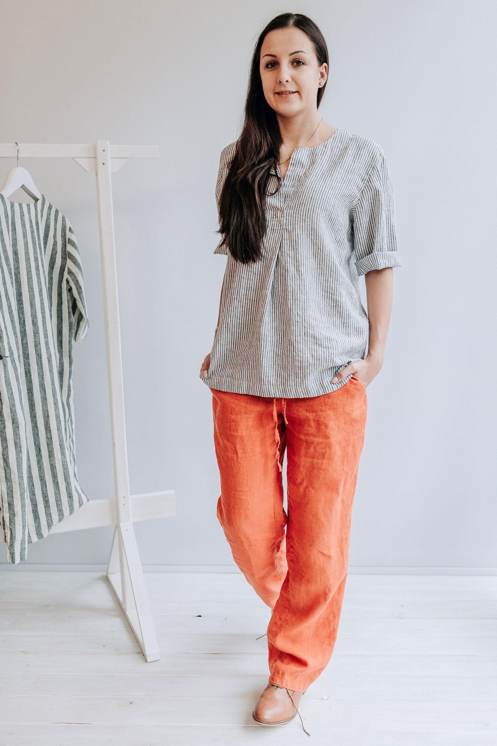 ac912d8a10d2 Womens Linen Shirts Plus Sizes   Saddha