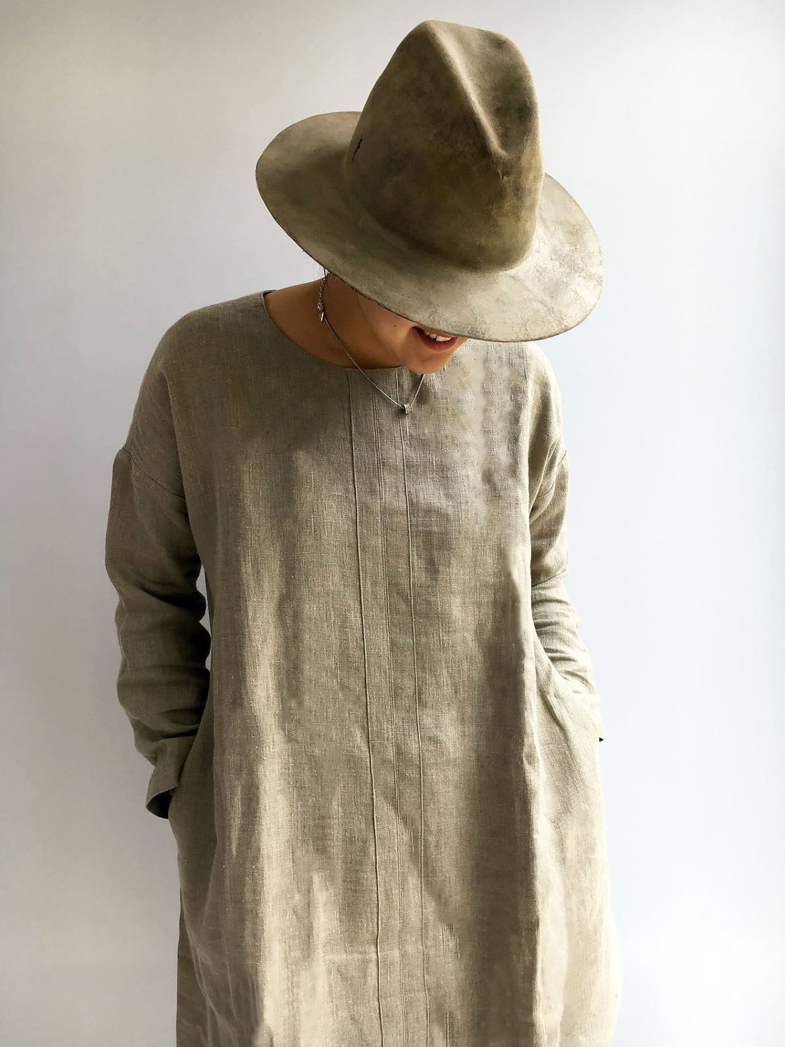 Natural Linen Tunic Tunic Top Plus Size Tunic Linen