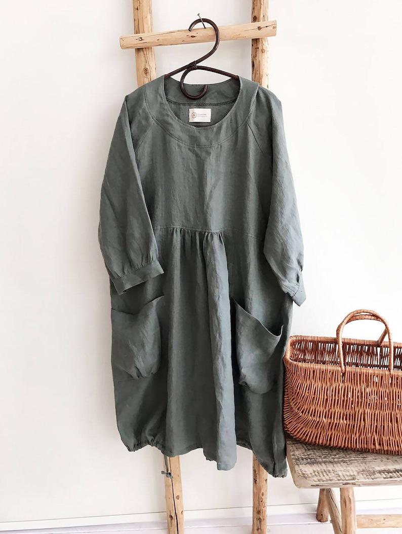 586e925aae4 Loose Linen Dress Linen Tunic Dress Dress for women Plus