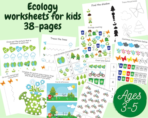 Earth day worksheets for kids Earth day activities for