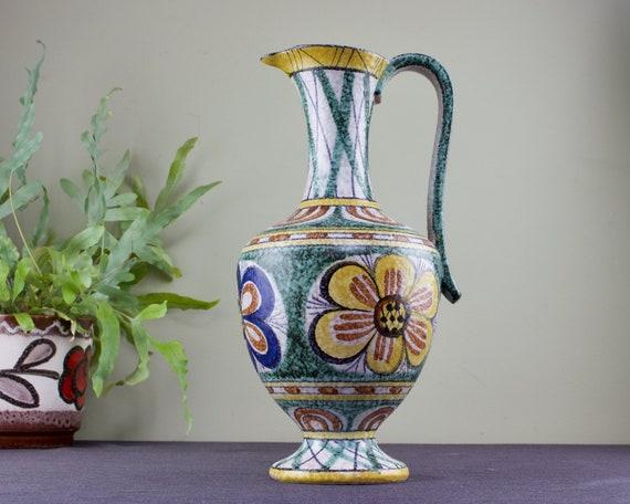 Classic Form 311 with Floral /'Kairo/' Decor by Cilli W\u00f6rsd\u00f6rfer Large 1950s West German Ceramic Vase by Ruscha