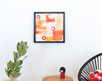 Miniature 1:12 Original Painting Abstract Wall Art – Dollhouse Mini Artwork 1/12