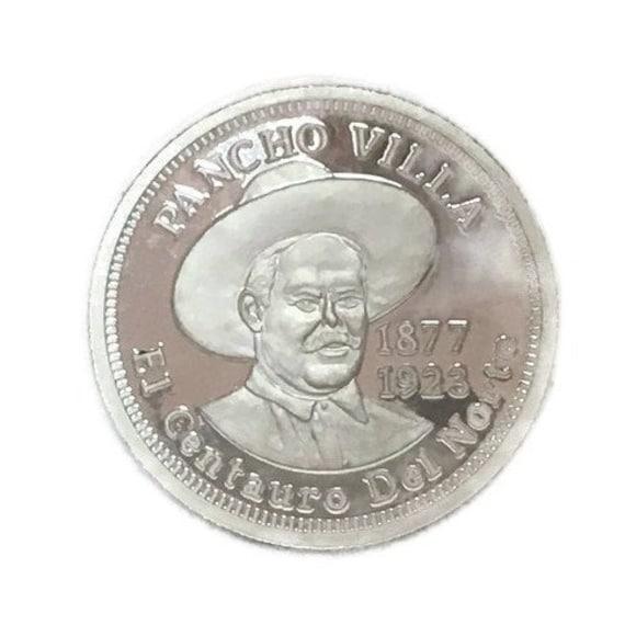 PANCHO VILLA EL CENTAURO DEL NORTE .999 PURE SILVER 1 OUNCE COIN