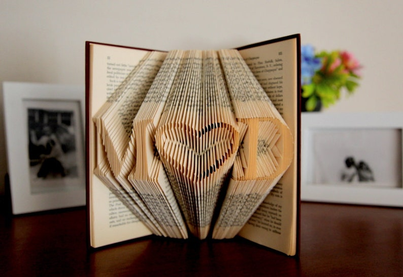 Gift For Her Folded Book Sculpture Birthday
