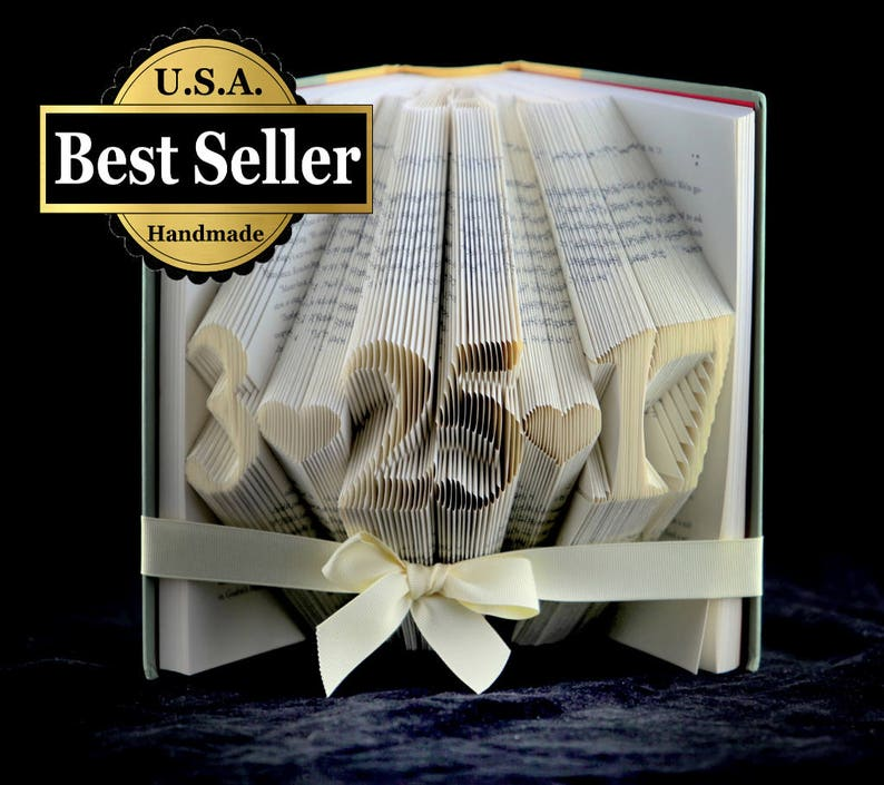 50th Wedding Anniversary Gift 1967 Folded Book Sculpture Etsy