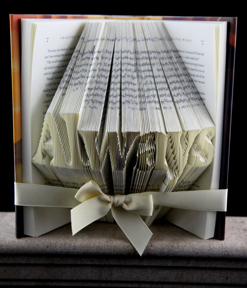 Birthday Gift For Her Folded Book Art Sculpture Girlfriend