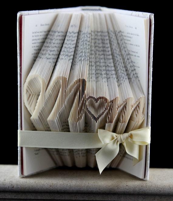 Gift For Mom Folded Book Birthday Art