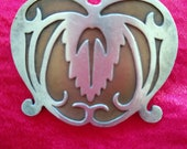 Lovely large Arts and Crafts silver copper brooch, probably Heintz