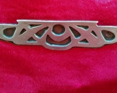 Arts and Crafts copper brooch with silver overlay, probably Heintz.
