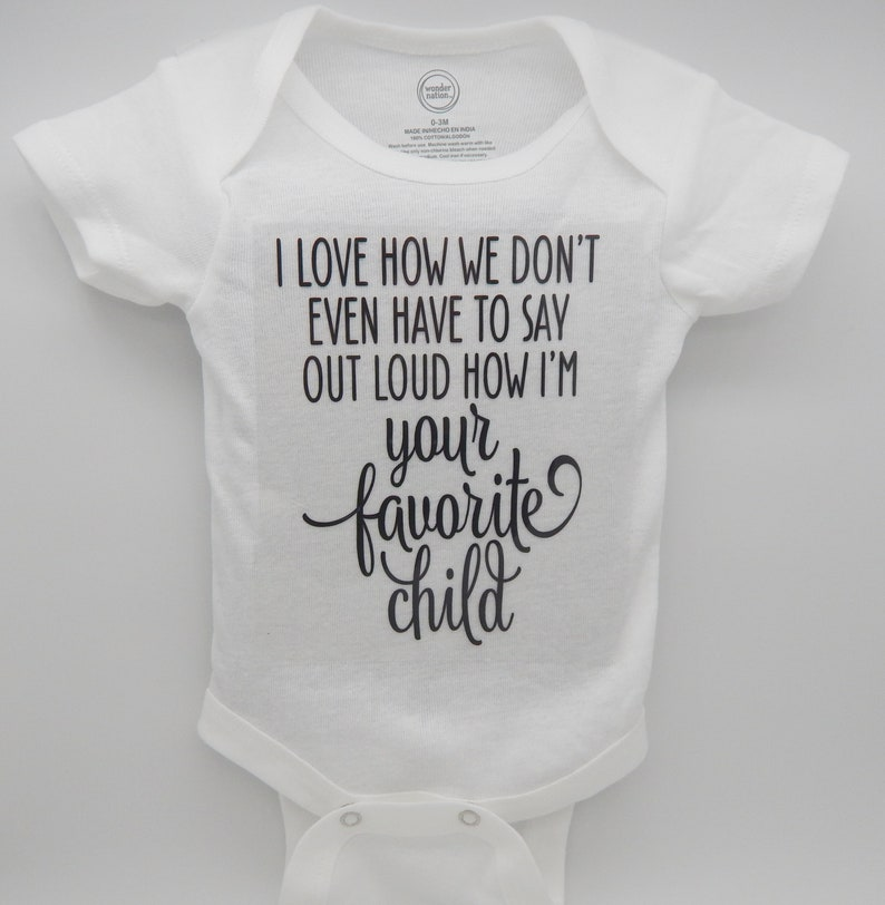 baby bodysuit baby creeper baby boy clothes I/'m the favorite child,Baby clothes baby shower gift baby girl clothes