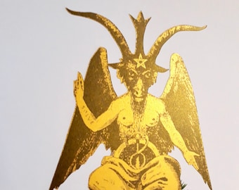 Baphomet Christmas Tree Topper, Occult, Wiccan Christmas, Witchcraft, Krampus, alternative Christmas decor, wine bottle cover