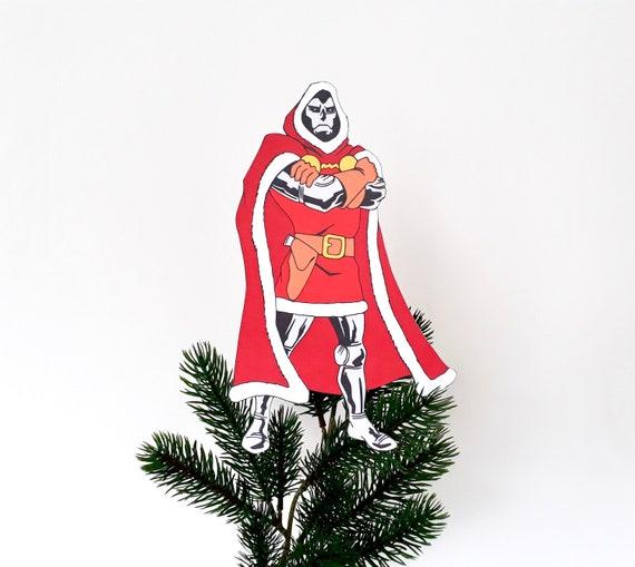 Marvel Christmas Tree Topper.Dr Doom Christmas Tree Topper Marvel Comics Christmas Decoration Gift For Geeks Geeky Christmas Alternative Decor