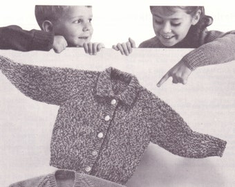 Knitting Pattern Central / Knit Cardigan / Knitted Cardigan / Knit Patterns / Vintage Patterns/ Etsy Vintage / Christmas Gift for Kids