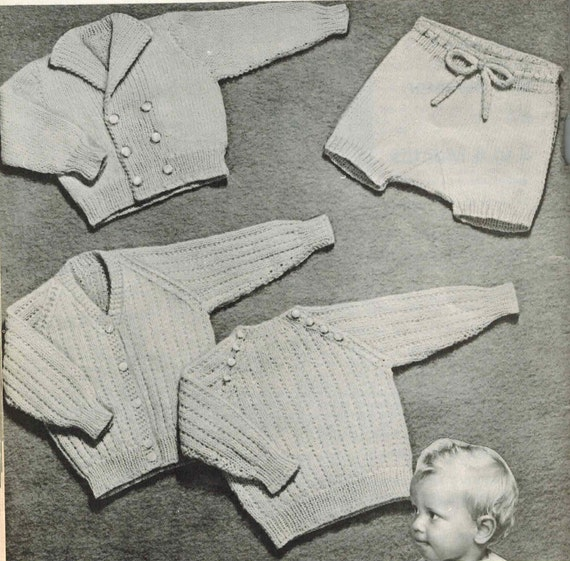 Knitted Cardigan Knitting Pattern Central Knit Cardigan Etsy